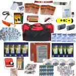 4 Person Survival Kit Deluxe Perfect Earthquake, Evacuation, Emergency Disaster Preparedness 72 Hour Kits for Home, Work or Auto 4 Person