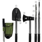 9N1 EMERGENCY TOOL KIT, SHOVEL, AXE, KNIFE. HAMMER & MORE