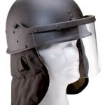 Black Anti-Zombie Hoarde Riot Tactical Helmet With Poly Face Shield