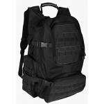 Emergency Survival 72 Hour Bugout Bag with FOX Tactical Field Operator's Action Pack (Black) Loaded with Emergency Food Water