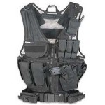 GMG Global Military Gear Tactical Military Zombie Assault Vest w Pistol Holster-Black