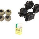 Gas Mask Family Kit Two (2) Adult + Two (2) Children Israeli Gas Mask w/ Original Nato Filter w/Anti radiation tablets – 20 Tablets (4 Packs) of 130 Mg Potassium Iodine