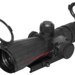 NcSTAR 3 – 9×42 mm Mark III Rubber Tactical Scope with Integrated Laser for Hunting Zombies