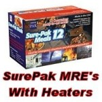 Sure-Pak Genuine GI US Military MRE Complete Meals wHeater, 12 Pack