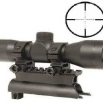 Ultimate Arms Gear Tactical SKS 4x30 mm Mil Dot Reticle Rifle Hunting Sniper Scope with See Thru Lens Caps + Stealth Black Steel SKS 7.62x39