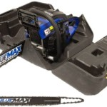 Zombie Stabbing Blue Max 8902 14-Inch 45cc 2-Stroke Gas Powered Chain Saw With Free 20-Inch Bar